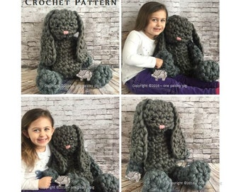 "Brinkley The Big Bunny - 26"" Tall - Giant Amigurumi Instant Download PDF CROCHET PATTERN"