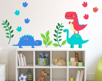 Dinosaur Wall Decals, Wall Decals Nursery, Wall Decal Nursery, Nursery Wall Decal, Baby Wall Decal, REMOVABLE and REUSABLE