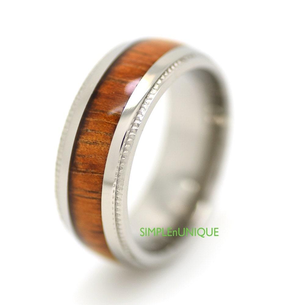 Wedding Band Titanium Wedding Ring Mens By SIMPLEnUNIQUE