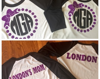 Customized sets (tees and hats) (mommy/daughter sets)