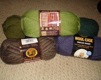 Lion Brand® Wool-Ease® Yarn, PLEASE check desciption for color quantities available