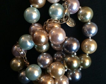 Kenneth J Lane Pastel Faux Pearl Necklace