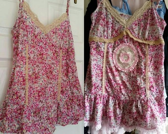 Revamped lacey Boho top