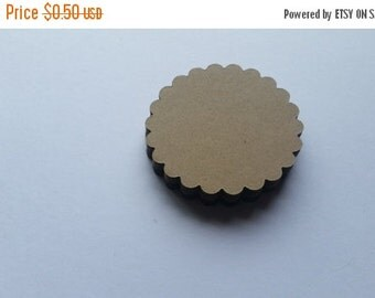 ON SALE Die Cut Scalloped Circles - Sample