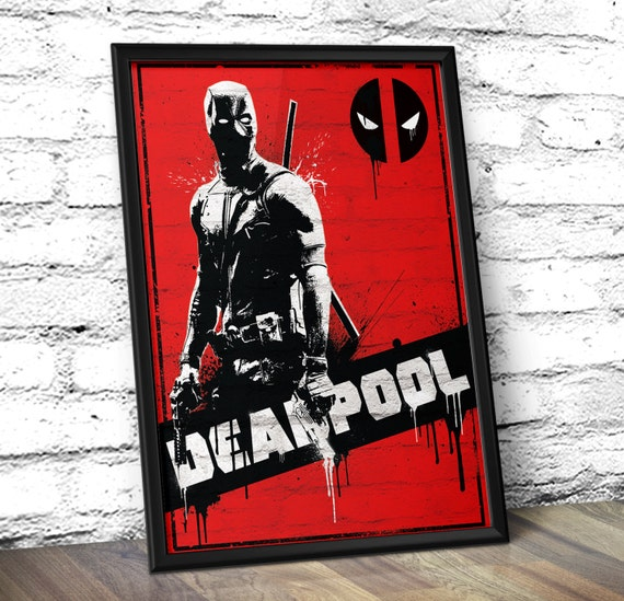 Deadpool Inspired Minimalist Movie Poster - Deadpool movie Poster