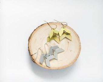 Chevron Dangle Earrings // Arrow Geometric Earrings // Double Chevron Earrings // Geo Supply Co.