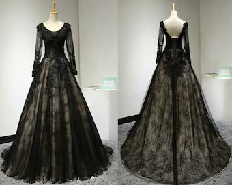 Gothic prom dress - Etsy