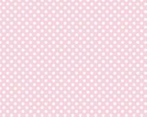 Riley Blake small dot pink fabric in baby pink polka dot light pink