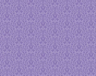Ghouls Damask Purple by Riley Blake fabric line Ghouls and Goodies by Cynthia Sandoval of by Doodlebug Designs Inc