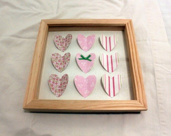 Handmade Box Framed Heart Picture
