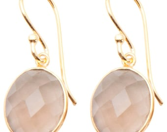 Faceted Smoky Quartz Gold-plated Earrings SC2527