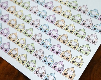 Happy mail envelope icons matte planner stickers