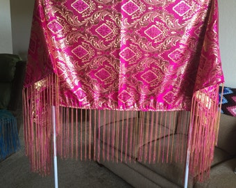 Handmade Native American Indian Powwow Shawl