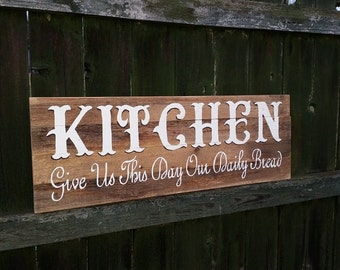Kitchen Signs, Cooking Signs, Painted Kitchen Signs, Rustic Kitchen Signs, Kitchen Decor, Kitchen Art, Restaurant Signs, Restaurant Art