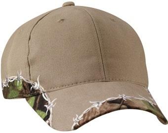 Blank Barbed Wire Camo Hat, Realtree Mossy Oak