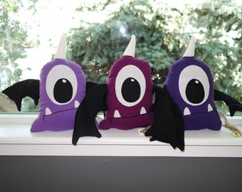 SALE! (50% Off!) Monster Sheb THE Purple People Eater-Plush-Handmade