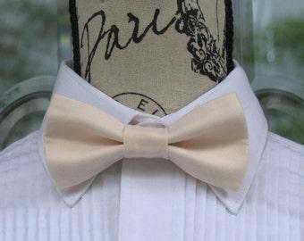 Champagne Pink Bow Tie - Pale Pink 26B (Infant-Adult)  Weddings - Grooms - Groomsmen - Graduates - Graduation - Ringbearer - Pretied Bowties