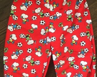 Limited Edition Original Peanuts/Snoopy fabric Just Chillin Trousers age 12-18 months