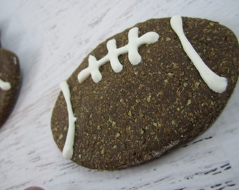 Furbaby Football Gourmet Dog Treats ~ Homemade All Natural Carob Bakery Dog Biscuits ~ Football Shaped Dog Cookies ~ Dog Snacks ~ USA Made