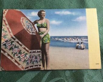 WW2  Pin Up Girl Postcard