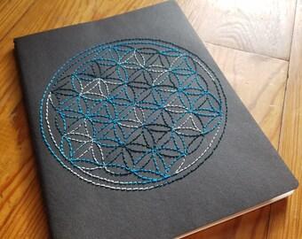 Sacred Geometry Flower of Life Stitched Moleskine Journal