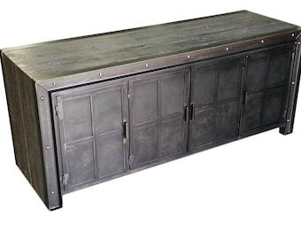 Metal Credenza / Sideboard / Media Cabinet
