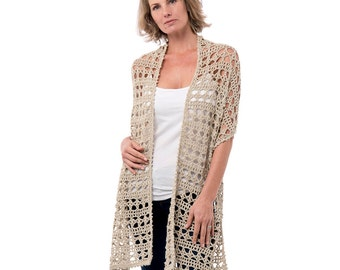 Dune Cotton Crochet Wrap