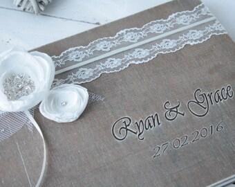 Guest Books,  Wedding Guest Book, Wedding Gift,  Rustic Wedding Book,  Handmade Book, Handmade Guest Book