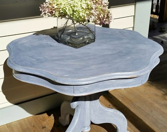 Painted antique parlor table