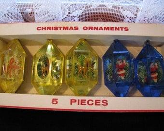 Vintage Plastic Christmas Ornaments #1