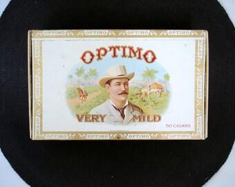 Vintage Optimo Cigar Box