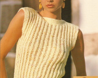 Instant Download - PDF- Vintage Pretty Top Knitting Pattern (C45)