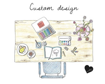 Custom design - birth annoucements, portraits, special requests
