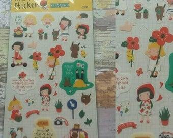 Hello Jane transperent stickers
