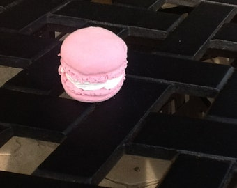 Air dry clay pink macaron