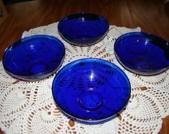 Vintage Colbolt blue Bowls