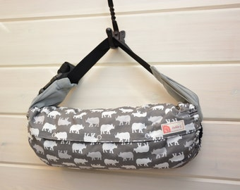 SALE!! 15%off - Baby Carrier Cover (Reversible) Rhino/ Solid Black, Tula/Ergo/Kinderpack/Beco/Boba/Lillebaby
