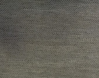 Modern Grey Colored Herringbone Fabric- Upholstery Fabric By the Yard