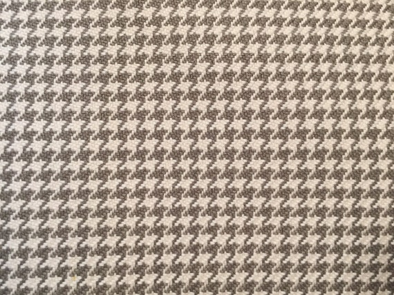 Grey houndstooth upholstery fabric by the yard by shopmyfabrics