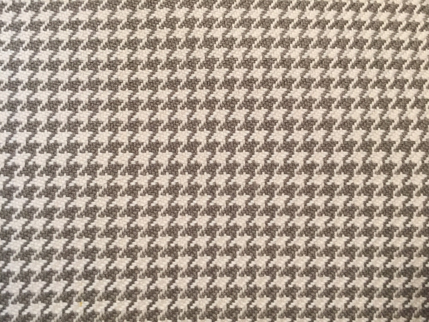 Grey Houndstooth Upholstery Fabric By The Yard