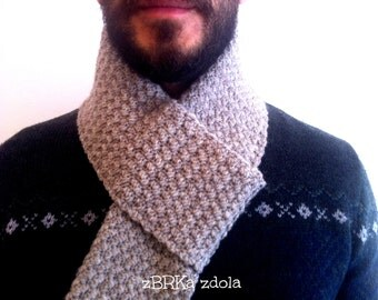 Men's scarf - Crochet Pattern (No. 017) INSTANT DIGITAL DOWNLOAD