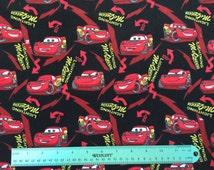 Cars lightning McQueen flannel fabric