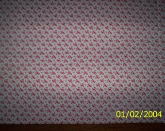 """New White with Red Hearts and Circles 100% Cotton Fabric 1 yard 3"""" x 24"""" Piece"""