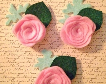Groom and Groomsmen set of 3 Boutonnieres