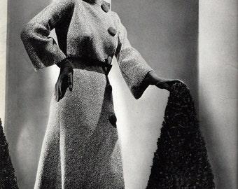 """Vintage 30's Knitted Ensemble PDF / Minerva Paris Book Volume No. 40 1935 """"Bordeaux"""""""