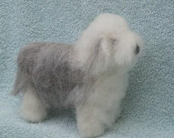 Old English Sheepdog . OES needle felting