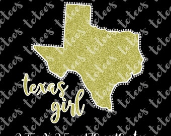 Texas Girl - Mixed Media - SVG