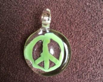 Peace Glass Pendant