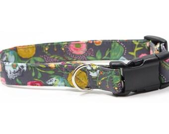 Dog Collar - Rosey Posey Durable Fabric Dog Collar, XS, S, M, L, XL