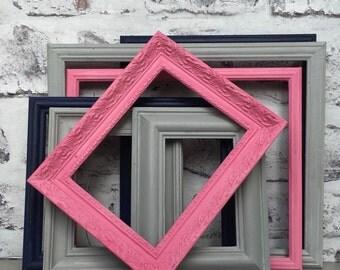 Shabby Chic Frames, Vintage Frames, Coloured Frames  Set of 7 Beautiful distressed
